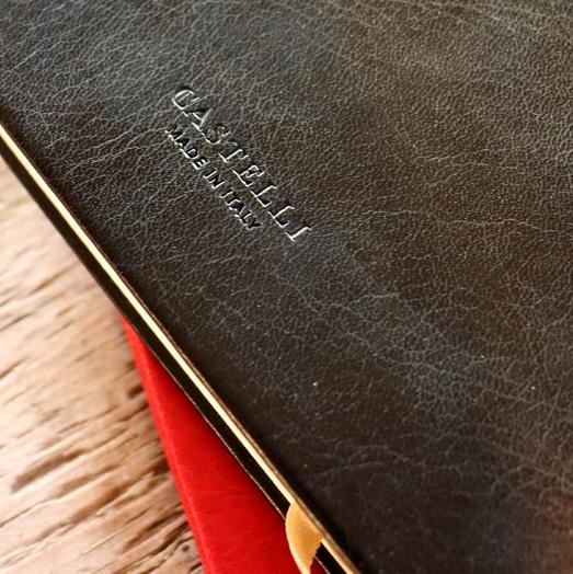 Castelli Branding On The Reverse Of The Sherwood Notebook
