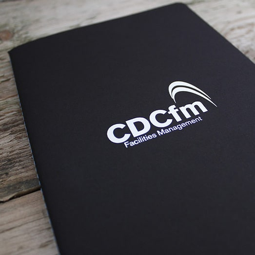 Silver Foil Corporate Branding on Castelli Singer Stitched Notebooks