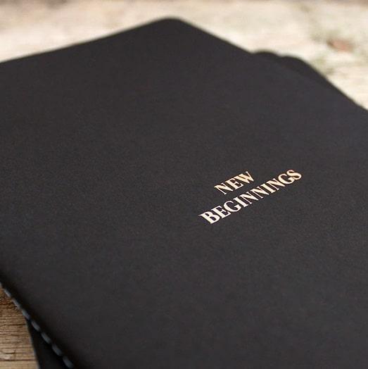 Foiled Black Castelli Singer Notebooks