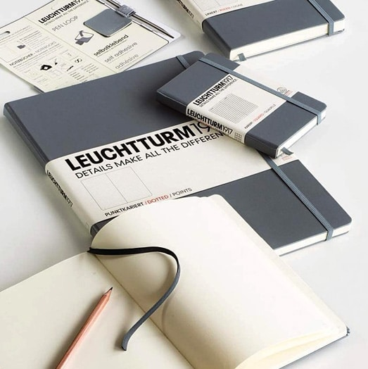 Leuchtturm1917 Softcover Medium and Pocket Notebooks in Grey