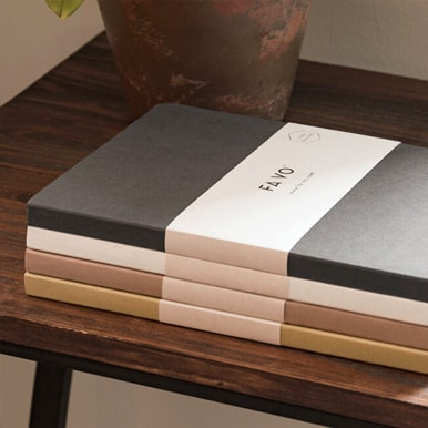 FA VO 100% Recycled Notebooks in Neutral Tones