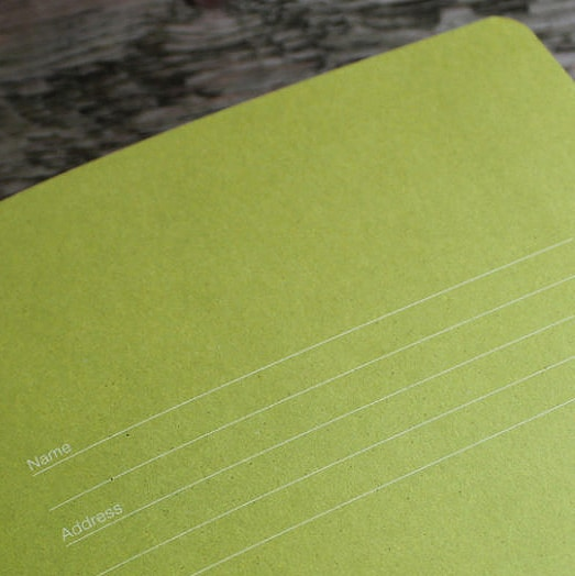 Inner Page of Castelli Appeel Notebook Made From Apples