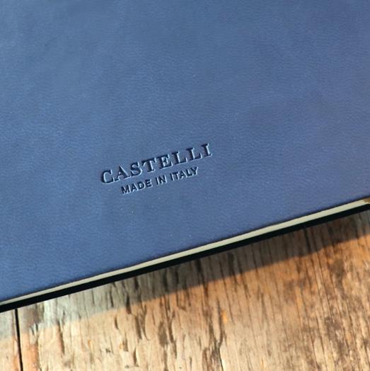 Blind Debossed Castelli Logo on Reverse of Tucson Flexible Notebook