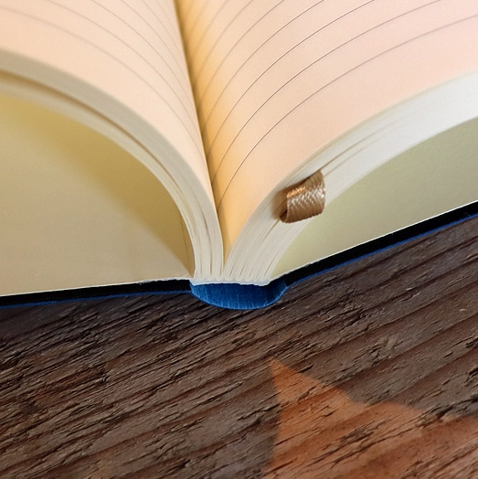 Lined Pages and Ribbon Marker of Castelli Tucson Flexible Notebook