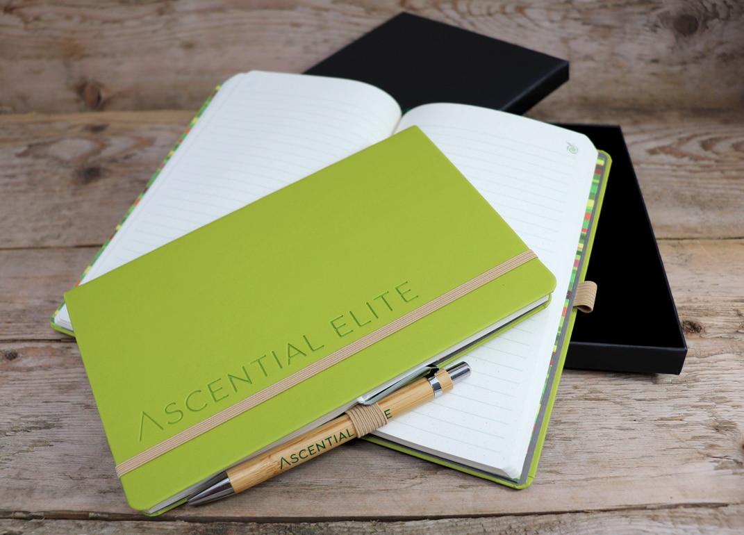 Green Blind Debossed Notebook