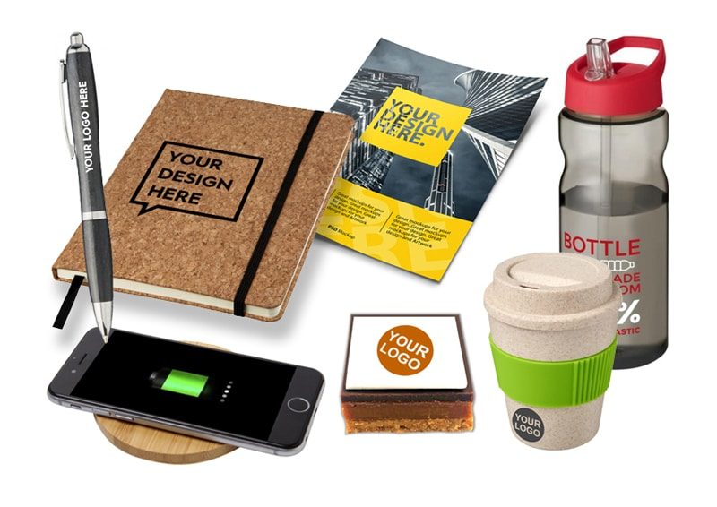 Branded merchandise for delegates at hybrid events