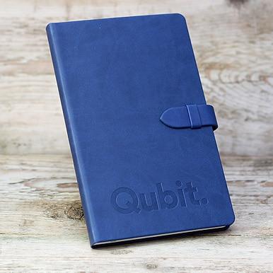 Blind Deboss Branding on Blue Castelli Mirabeau Notebook