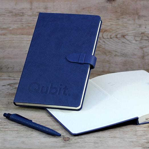 Qubit Branded Castelli Mirabeau Notebooks