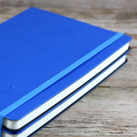Blind Debossed Blue Castelli Tucson Flexible Notebooks