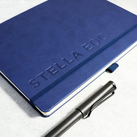 Blind Deboss Branding on Castelli Tucson Notebook with Pen