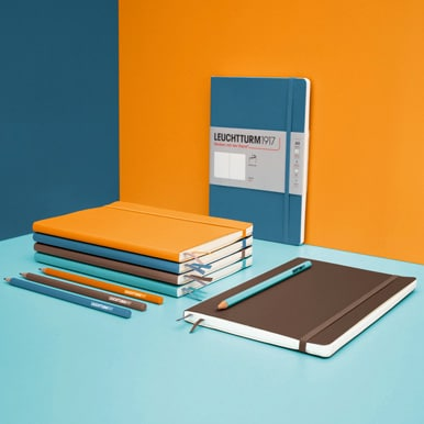 Leuchtturm1917 Softcover Notebooks with Vibrant Orange with Pencils