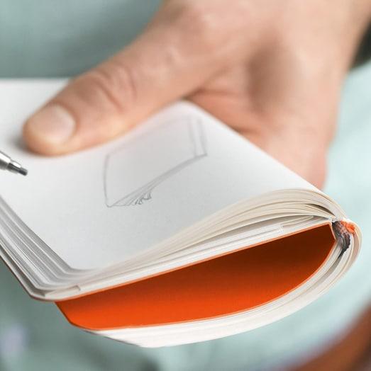 Leuchtturm1917 Pocket Notebook in Orange