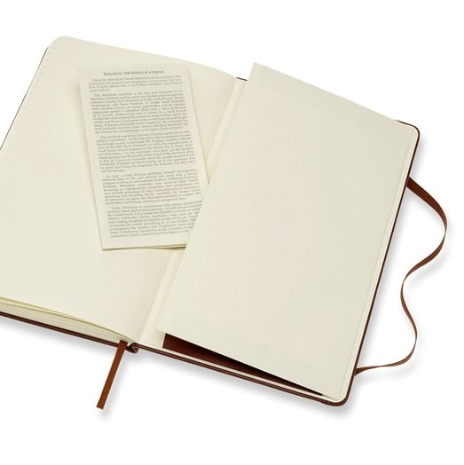 Moleskine Leather Notebook with Rear Pocket