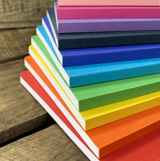Brightly Coloured Recycled Card Notebooks