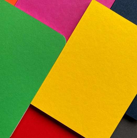 Pink, Green, Yellow and Red Recycled Notebooks