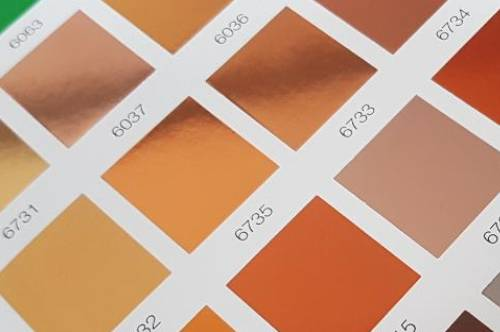 Rose Gold Foil Swatch Card from FoilCo Ltd