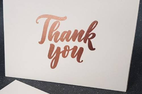 Rose Gold Foil Thank You Card
