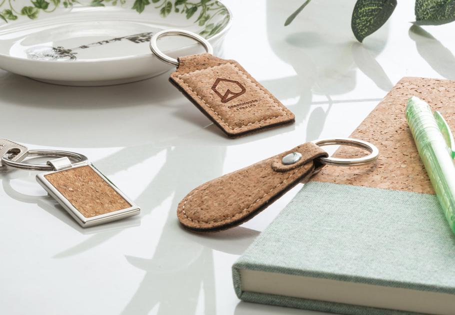 Eco Cork Keyrings